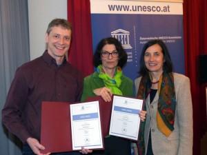 Übergabe der UNESCO Auszeichnungen