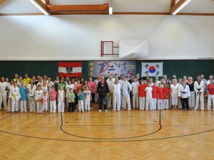 Gruppenfoto Trainingslager Juli 2014 Obersiebenbrunn